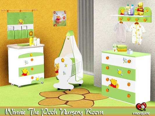 Sims 3 updates the sims resource winnie the pooh nursery room by