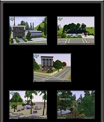 Sims 3 lot, building, community, residential