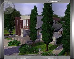 Sims 3 house, lot, architecture, build, gym