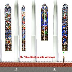 Sims 3 windows, basilica, church, build
