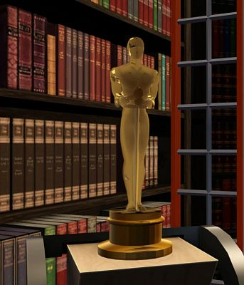 Sims 3 objects, set, decor, oscar, statuette