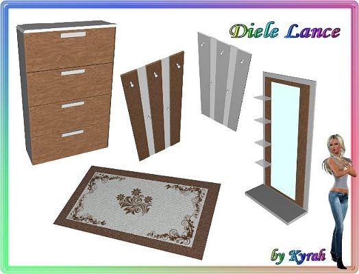 Sims 3 furniture, hall, objects, decor