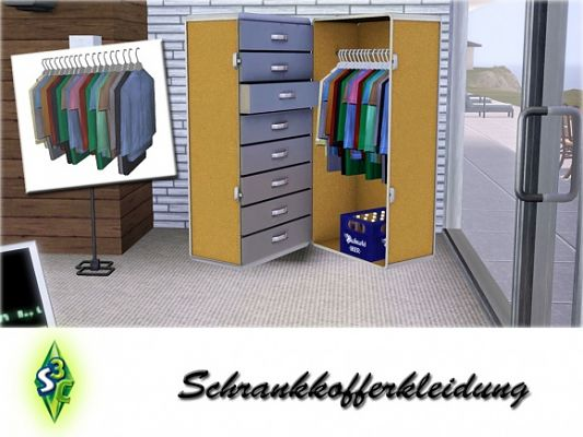 Sims 3 decor, clothes, trunk, objects