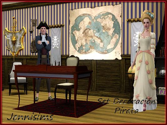 Sims 3 piraye, decor, objects, set