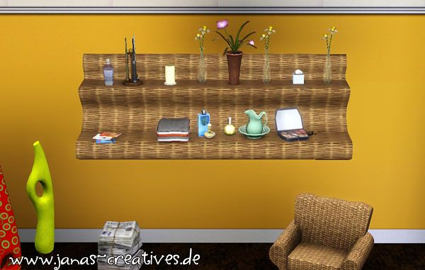 Sims 3 shelves, mesh, objects, decor, sims3
