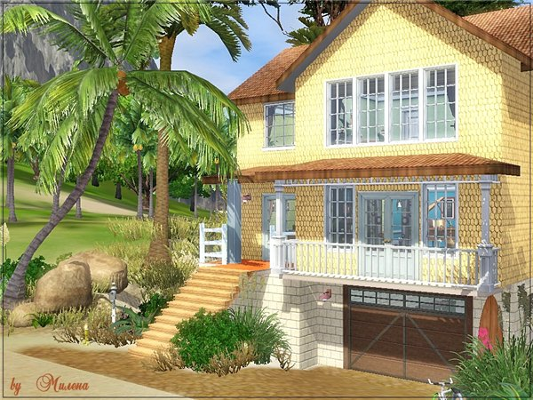 Sims 3 beach house images galleries for Beach house designs for sims 3