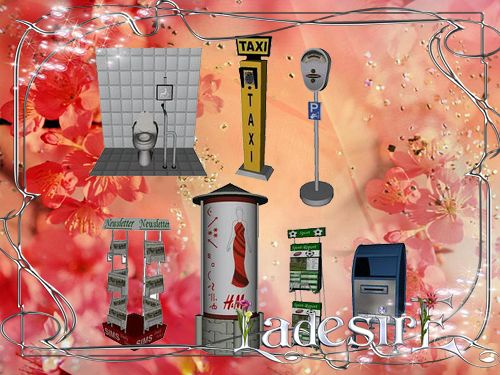 Sims 3 objects, city, decor, outdoor