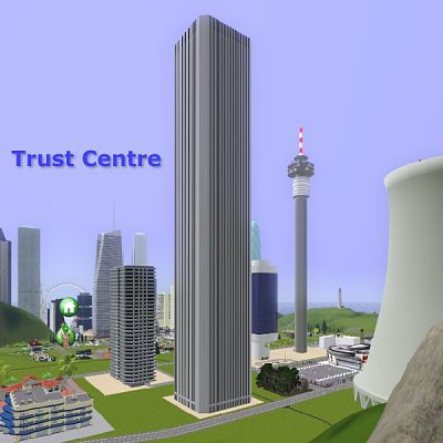 Sims 3 skyscraper, object, decor, center