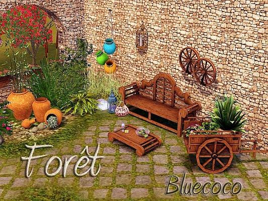 Sims 3 outdoor, objects, decor, furniture