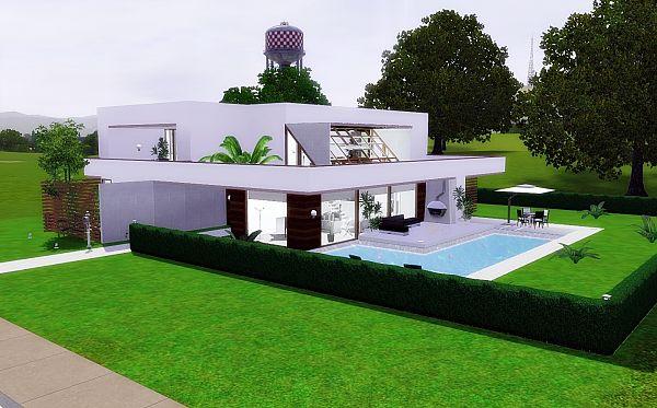 Как сделать двухэтажный дом в симс фриплей