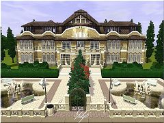 Sims 3 house, lot, residential, sims3, mansion