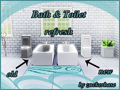Sims 3 bathroom, objects, decor