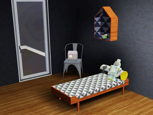 Sims 3 chair, pillow, lounger