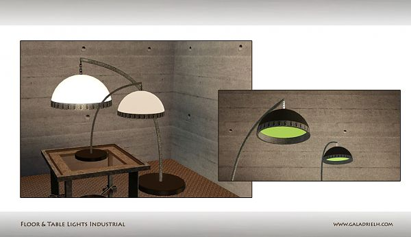 Sims 3 light, lamp, lighting, industrial