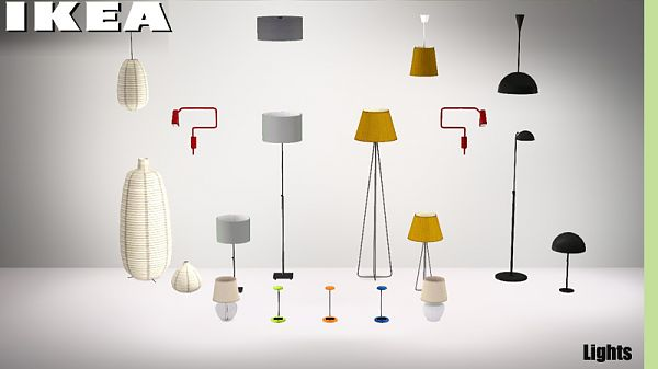 Sims 3 light, lamp, lighting, ikea