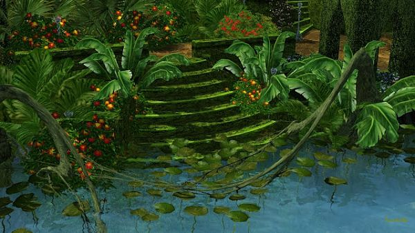 Sims 3 islands, stairs, objects, fantasy, sims3