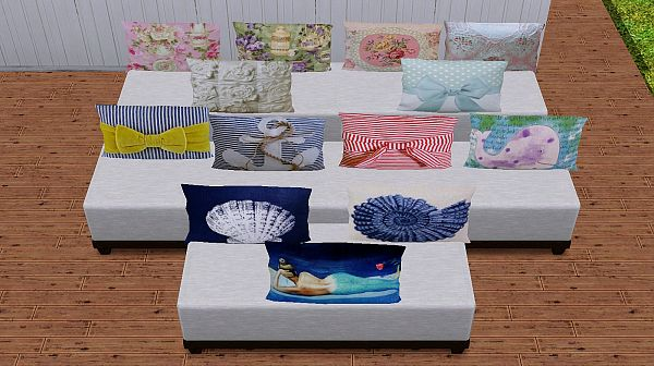 Sims 3 pillows, decor, objects, sims3