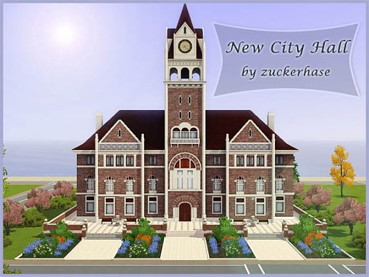 Sims 3 community, lot, city hall, sims3