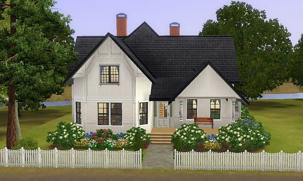 Sims 3 cottage, house, lot, residential