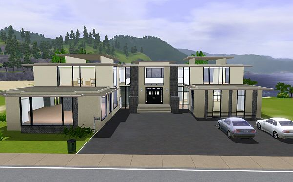 Stunning maison moderne de luxe sims 3 photos awesome interior home satellite for Maison moderne de luxe sims 3