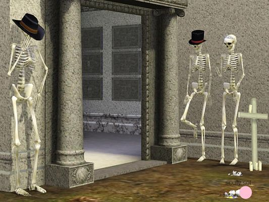 Sims 3 skeleton, objects, decor