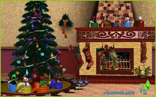 Sims 3 Updates - Vita Sims3: Christmas Livingroom Set at VitaSims!