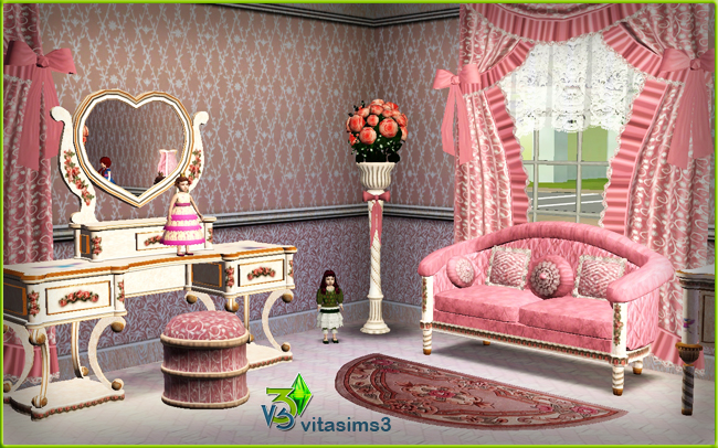 Sims 3 Updates - Vita Sims3: PRINCESS BEDROOM (donation set) at ...