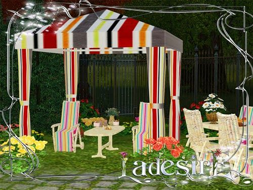 Sims 3 garden, outdoor, furniture, set