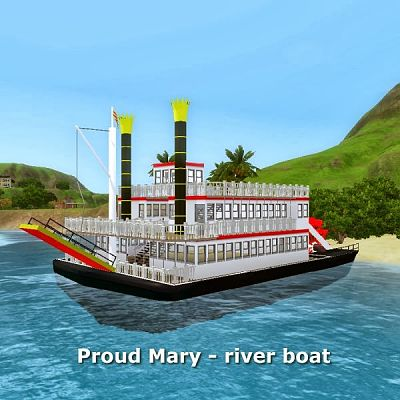 Sims 3 boat, ship, vehicle