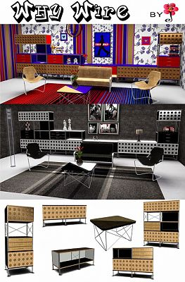 Sims 3 shelves, furniture, units