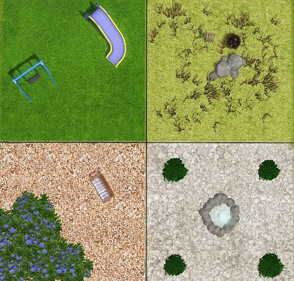 Sims 3 terrain, paints