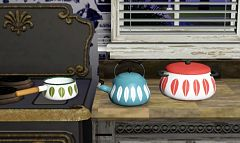 Sims 3 kitchen, clutter, deco, decoration