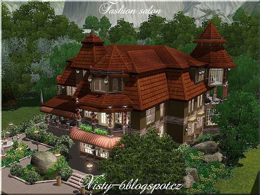 Sims 3 salon, lot, community
