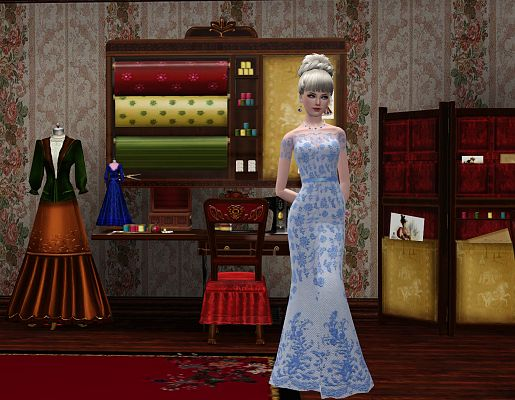 Sims 3 sewing, room, decor, object