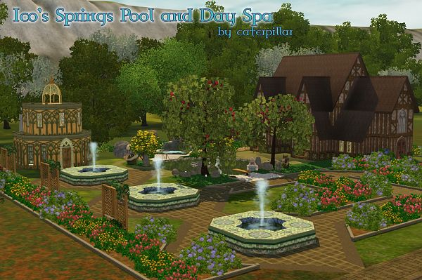 Sims 3 pool, lot, community