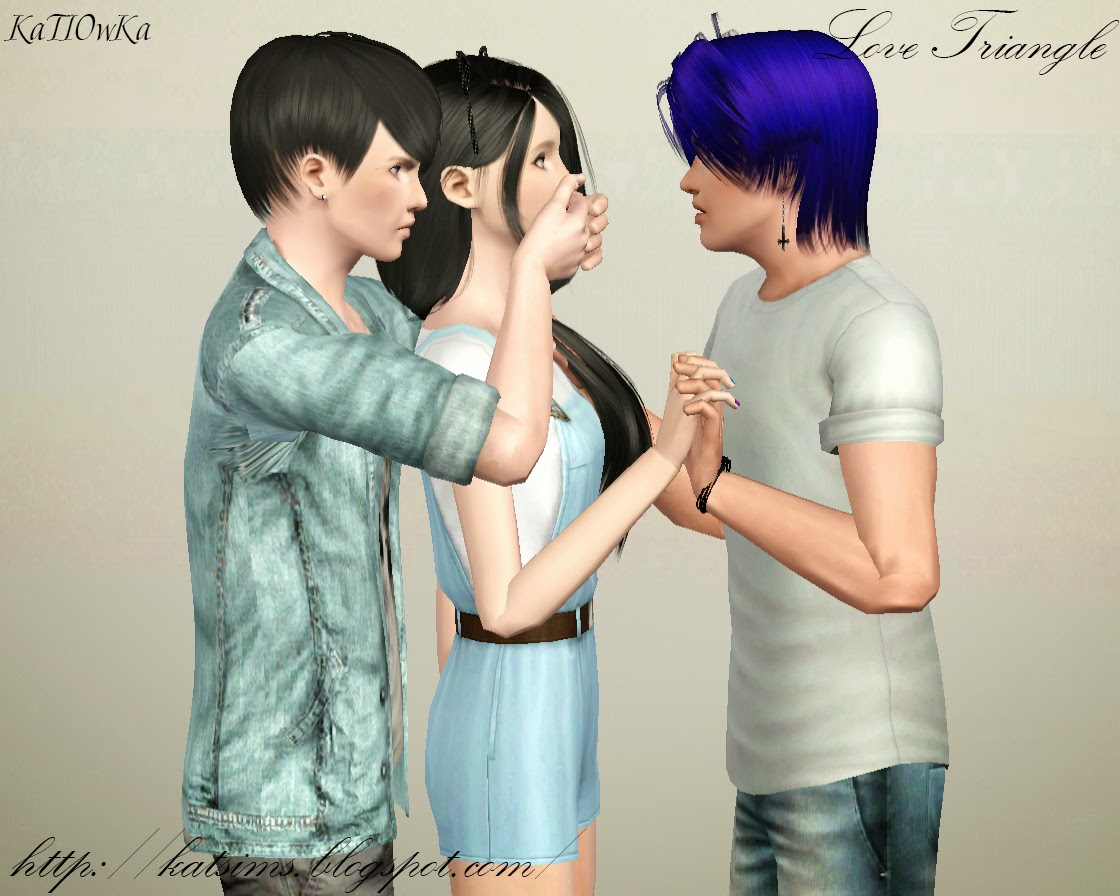 Sims 3 Updates - Kat Sims: Poses: Love Triangle by KaTIOwKa