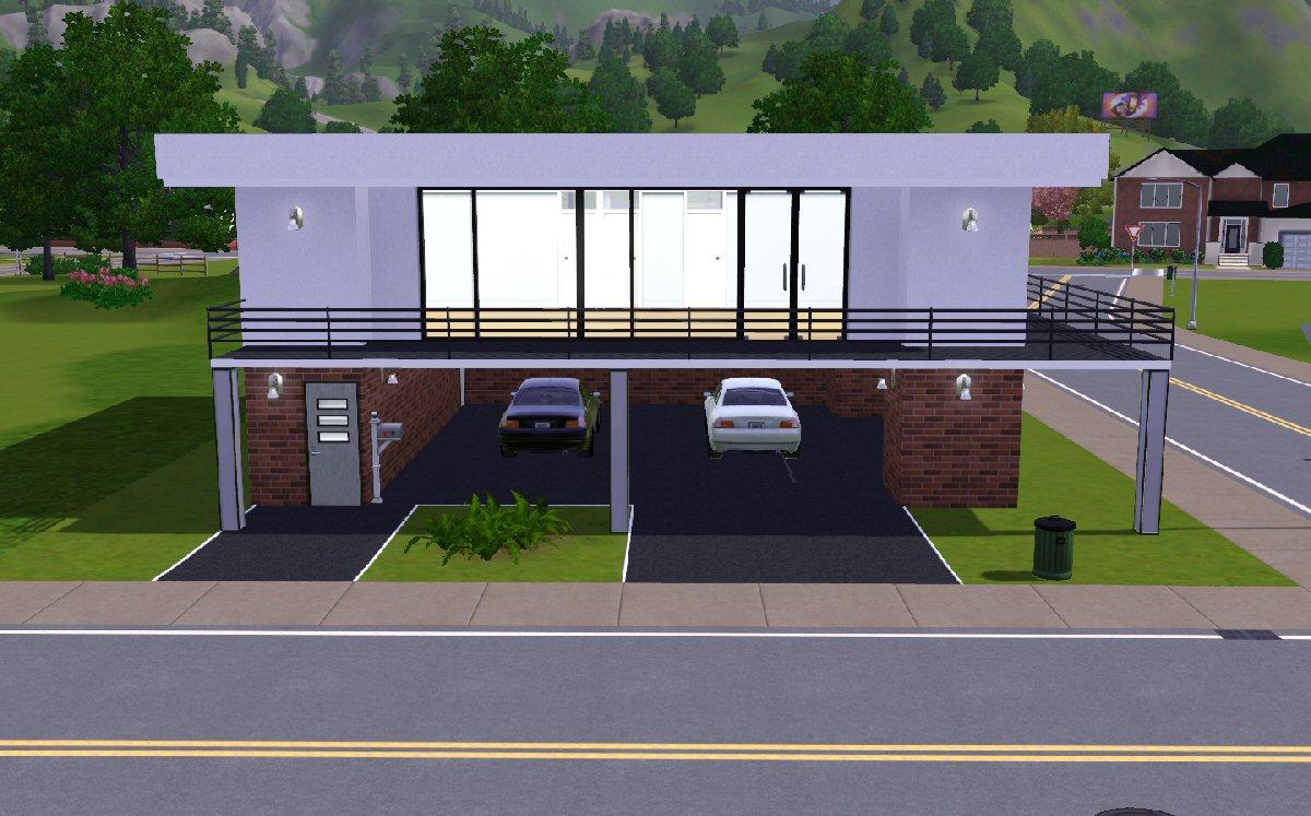 simple modern house the sims 3 Modern House