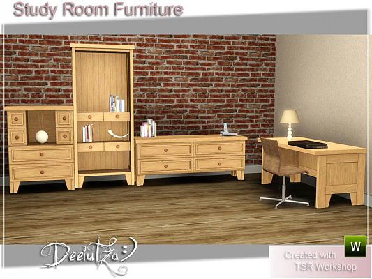 Sims 3 office, study room, furniture, objects, decor, sims3