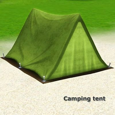 Sims 3 camp, tent