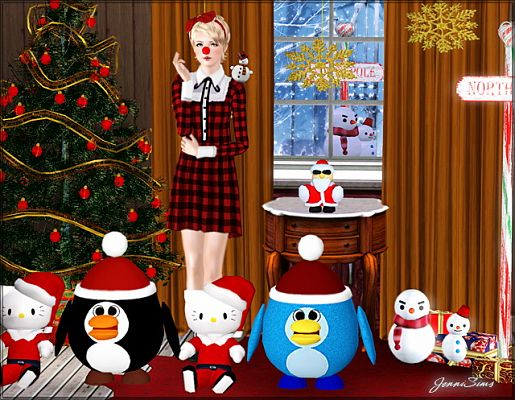 Sims 3 christmas, decor, objects