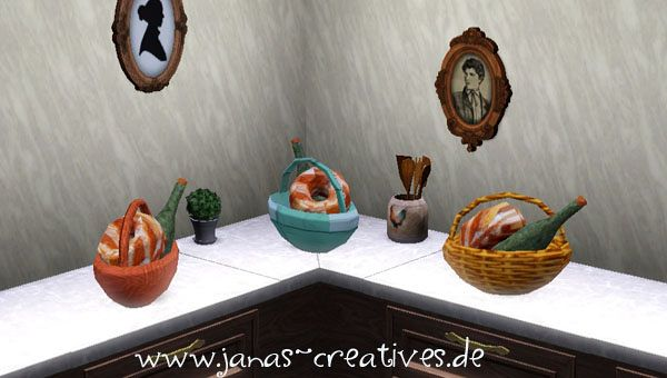 Sims 3 basket, objects, decor