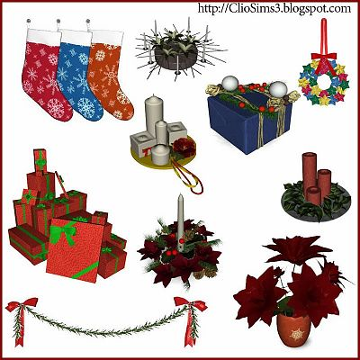 Sims 3 decor, object, christmas