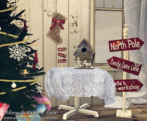 Sims 3 objects, decor, set, christmas
