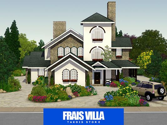 Sims 3 villla, house, lot, residential