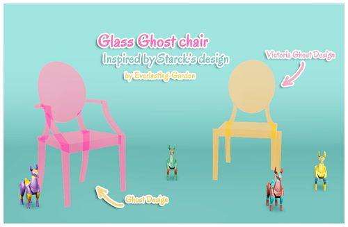 Sims 3 chair, furniture, glass
