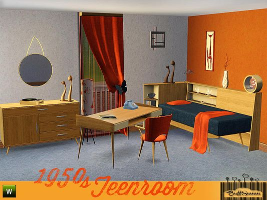 Bedroom Furniture 1950 S sims 3 updates - the sims resource: 1950s teenroombuffsumm