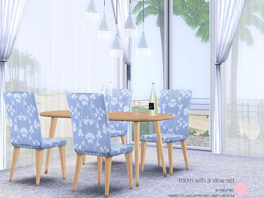 Sims 3 diningroom set, dining, furniture, objects, sims3