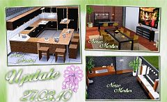 Sims 3 kitchen, diningroom, study, clothing