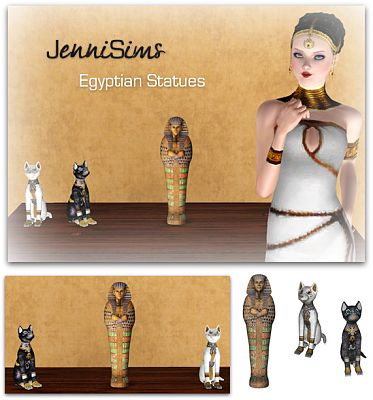 Sims 3 statues, decorative, objects