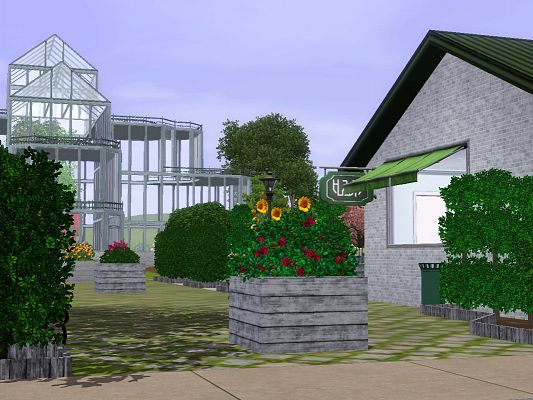 Sims 3 lot, community, botanical garden, sims3